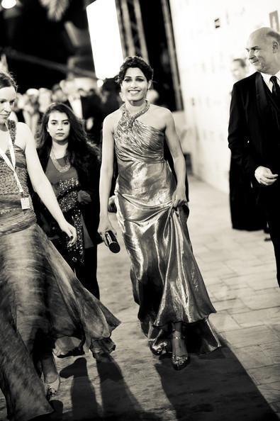 Frieda Smiling Photo Still At The Screening Of Life Of Pi At Dubai International Film Festival