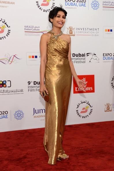 Frieda Cute Smiling Still At The Screening Of Life Of Pi At Dubai International Film Festival