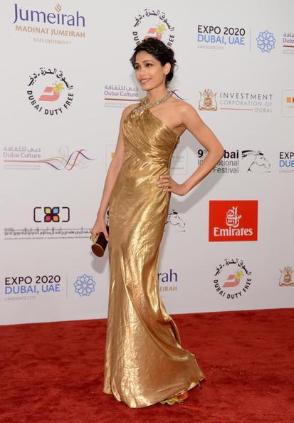 Frieda Stunning Look Photo At The Screening Of Life Of Pi At Dubai International Film Festival