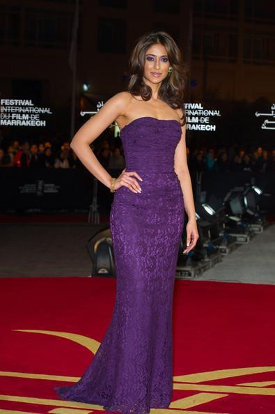 Ileana D'cruz Looked Dashing In A Violet Color Gown At The Marrakech Film Festival