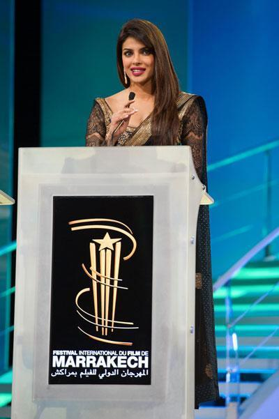 Pryianka Address The Audience At The Marrakech Film Festival