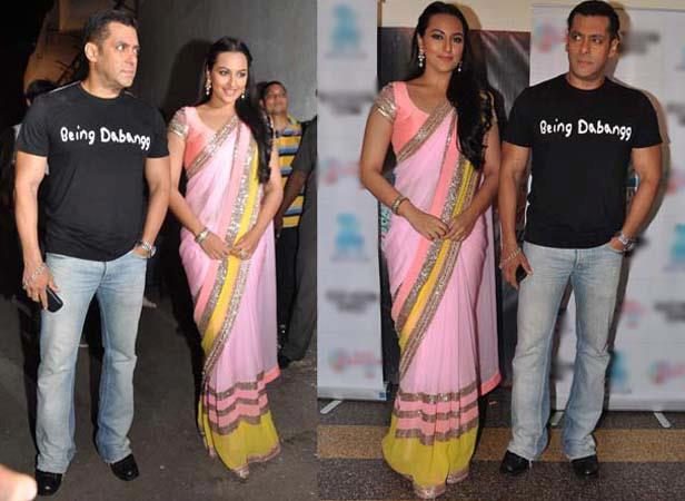 Salman And Sonakshi Spotted To Promote Dabangg 2 On Sa Re Ga Ma Pa