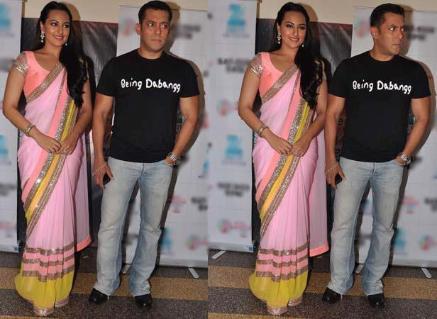 Sonakshi And Salman Snapped At Famous Studios