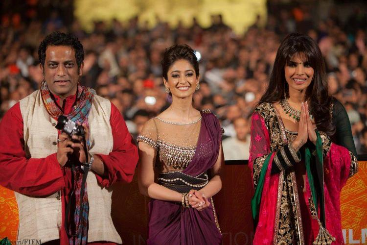 Anurag With Ileana And Priyanka Smiling Still At The 12th Marrakech Film Festival