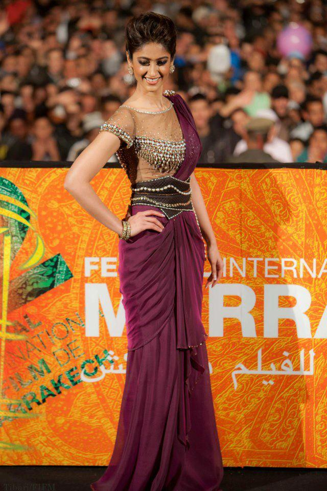 Ileana D'Cruz Posed For Camera At The 12th Marrakech Film Festival During Barfi Screening