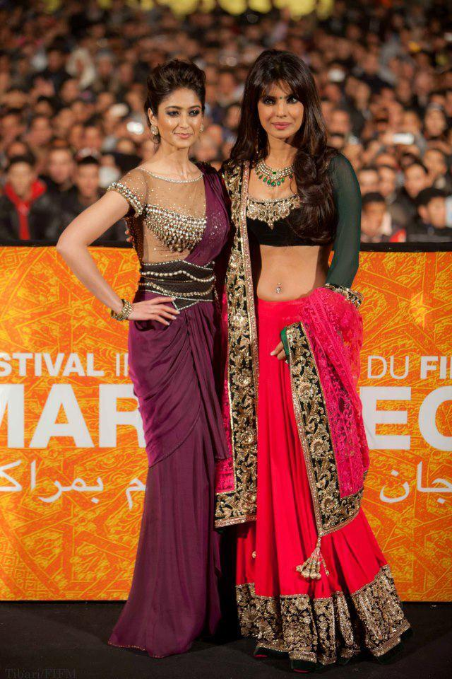 Priyanka And Ileana Spotted At The 12th Marrakech Film Festival To Promote Barfi
