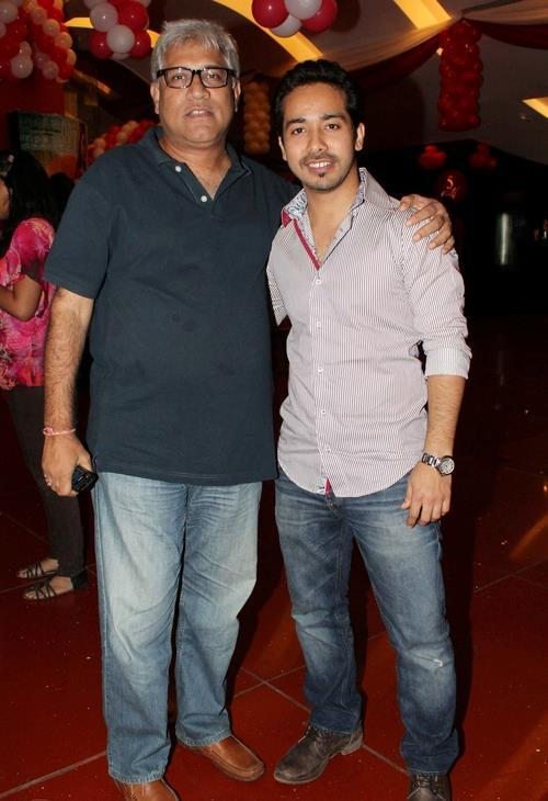 Kumar Mangat And Abhishek Spotted At First Look Launch Of Movie Aksh Vani