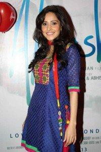 Nushrat Bharucha Pose For Camera At The First Look Launch Of Movie Aksh Vani