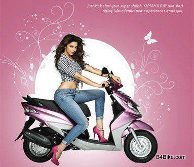 Deepika Sexy Look Ad Photo For Yamaha Ray Bike