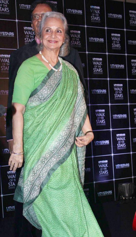 Waheeda Rehman Spotted At The Launching Of Dev Anand Statue