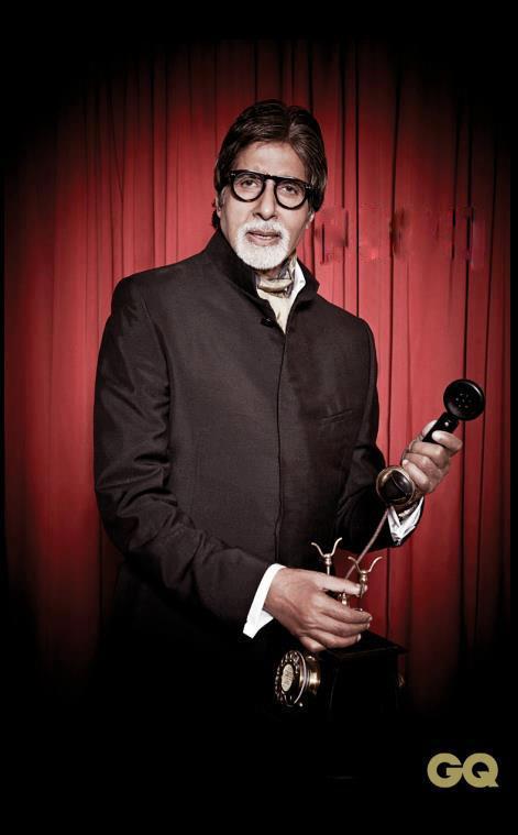 Amitabh Bachchan With Award Still At GQ Men Of The Year