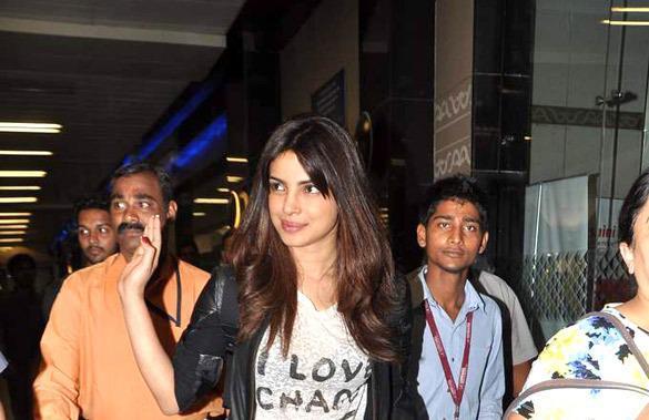 Priyanka Chopra At Mumbai Airport After Return From Dubai