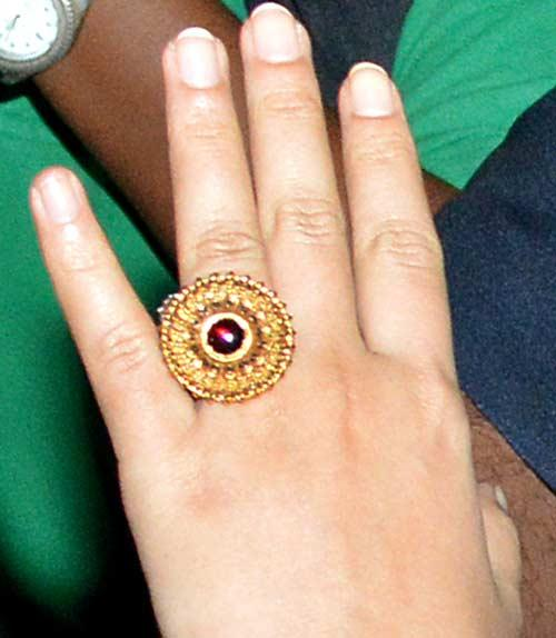 A Still Of Vidya Balan Engagement Ring