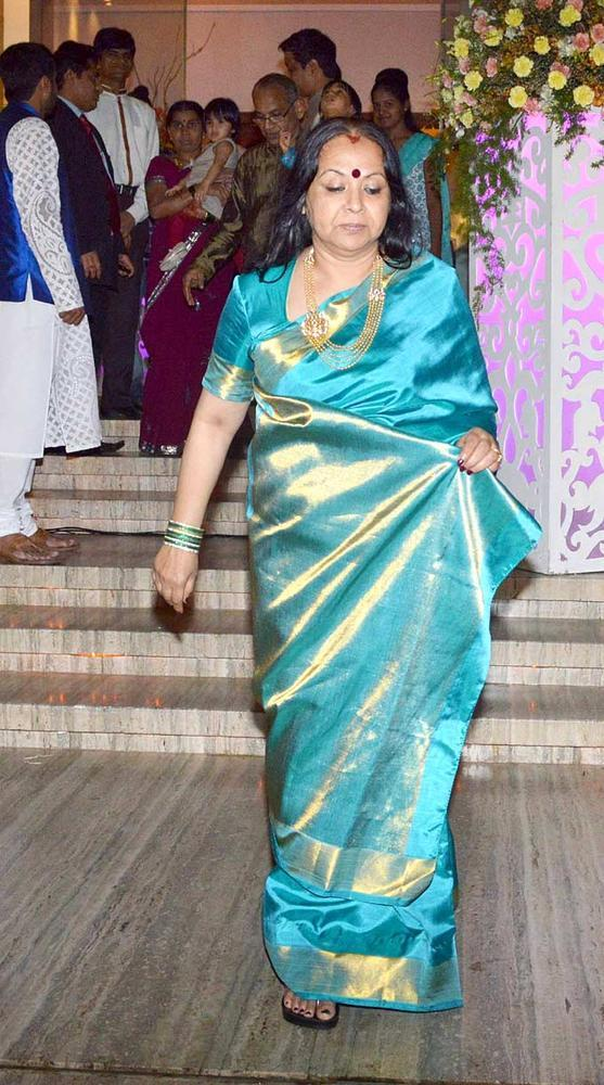 Vidya Mom Saraswathy At Her Daughter Pre-Wedding Bash