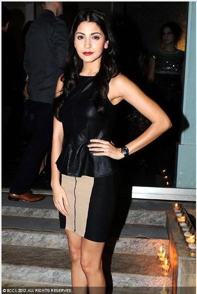 Anushka Posed For Camera In A Black Dress At  The Launch Of British Columbia's Operations At The Canadian Consul