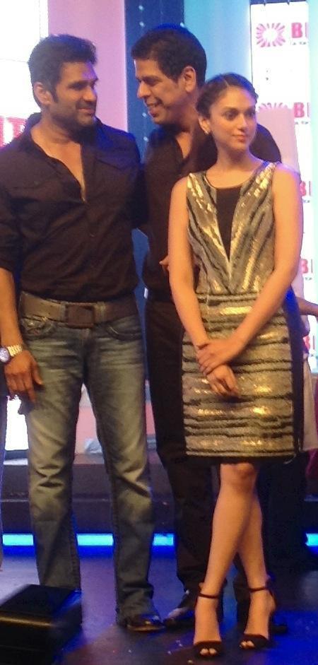 Suniel,Aditi And Murli Clicked At Bright Awards 2012