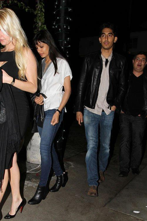 Freida Pinto And Dev Patel Photo Clicked While Leaving From A Resturant