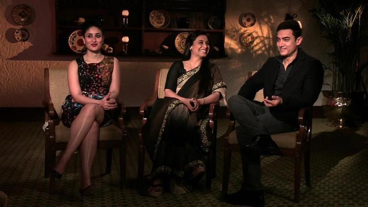 Kareena,Rani And Aamir Photo Clicked On The Front Row Show