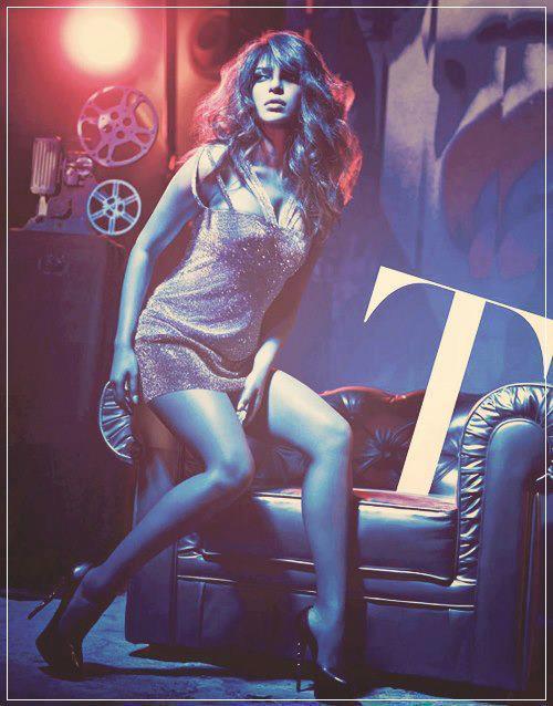 Priyanka Looked Hot In Mini Dress For GQ India Magazine December 2012