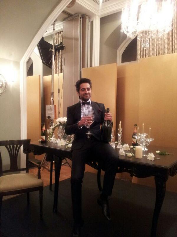 Ayushmann Smiling Still At  Hello! Magazine Event