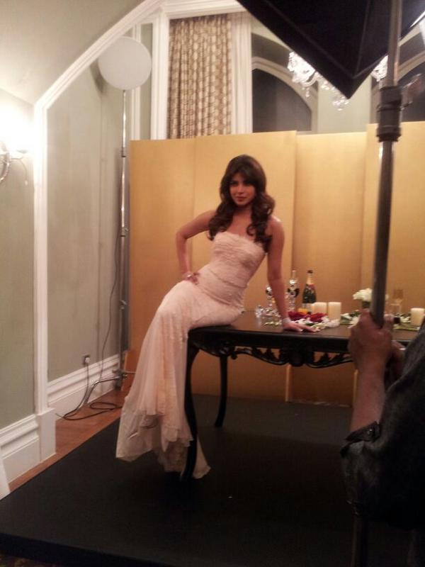 Priyanka Pose For Camera At  Hello! Magazine Event