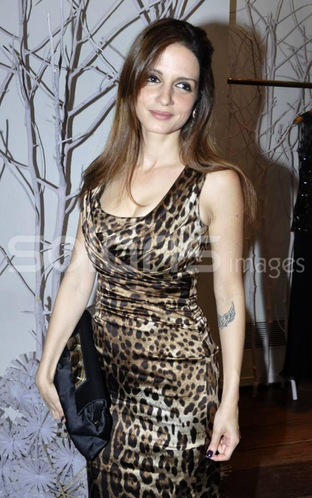 Suzanne Roshan Looked Awesome In A Spotted Dress At Hello! Magazine Event