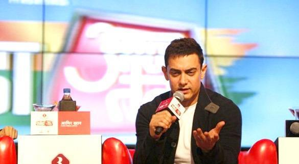 Aamir Khan Attend The Agenda Aaj Tak 2012 Event