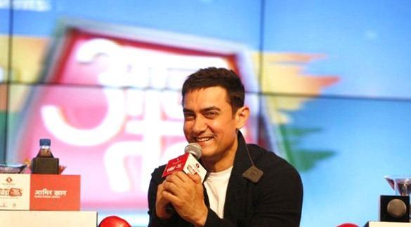 Aamir Khan Smiling Pose At Agenda Aaj Tak 2012 Event