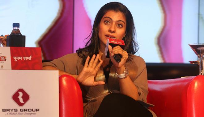 Kajol Snapped During Attend The Agenda Aaj Tak 2012 Event