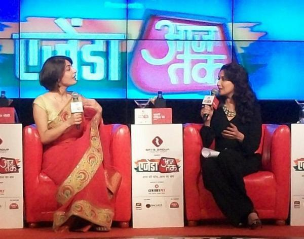 Madhuri Dixit Discussion Still At Agenda Aaj Tak 2012 Event