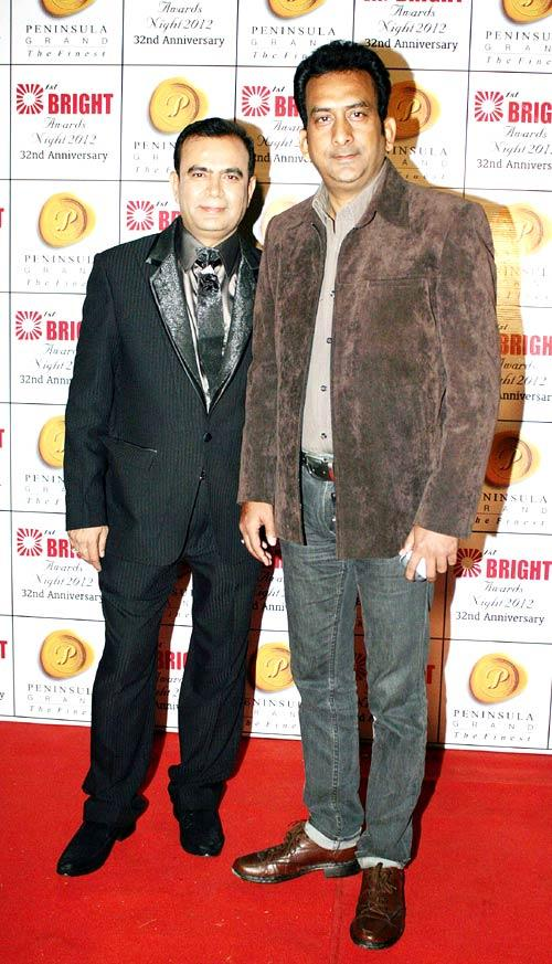 Yogesh Lakhani With A Friend Snapped At 1st Bright Awards 2012