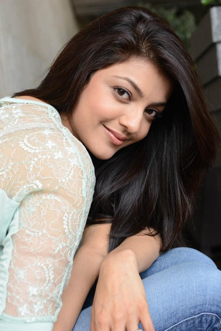 Kajal Agarwal Charming Look Photo Still In Jeans