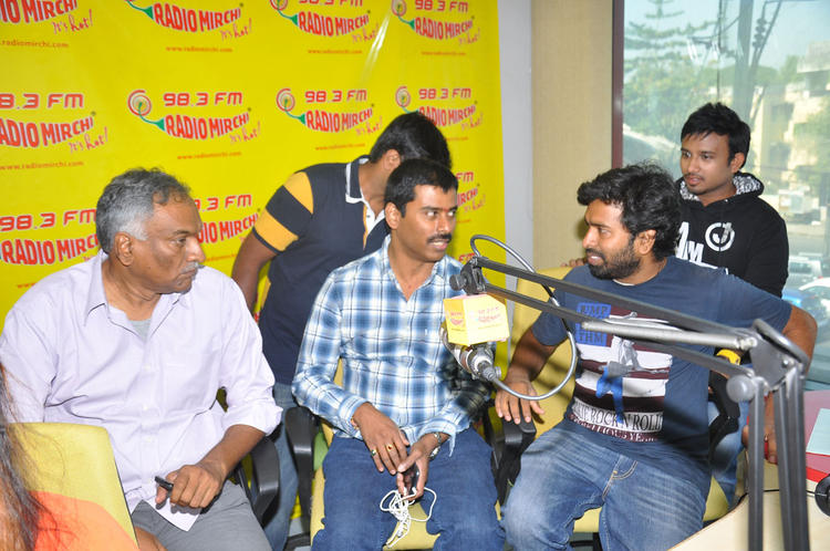 Tammareddy And Suresh Discussion Still At Radio Mirchi Office For Pizza Movie Audio Launch