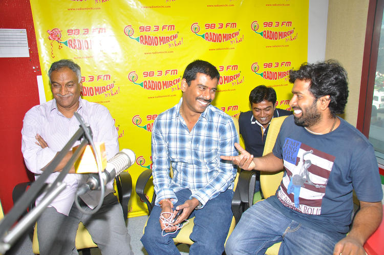 Tammareddy And Suresh During The The Launch Of Pizza Movie Audio At Radio Mirchi Office