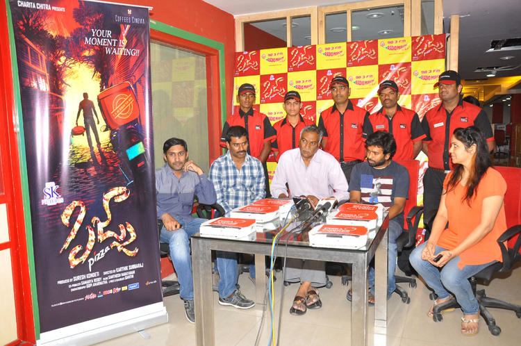 Tammareddy And Suresh Launch The Audio CD Of Pizza Movie At Radio Mirchi Office