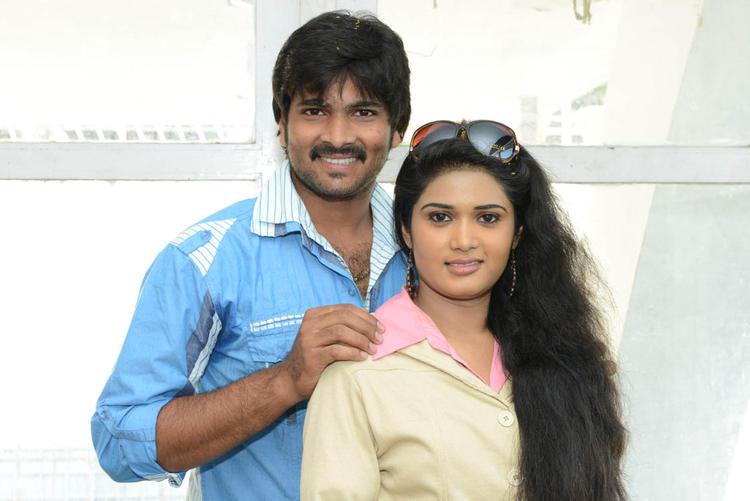 Sunitha And Venu Gopal Cute Smiling Still At LGN Entertainments Prod No 1 Movie Opening