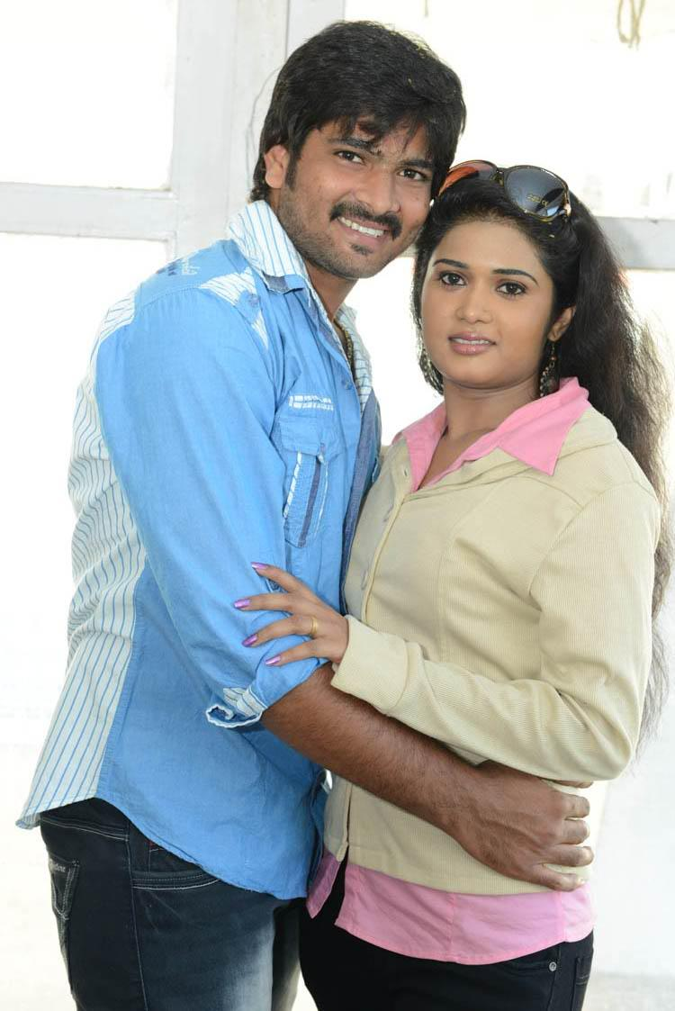 Venu Gopal And Sunitha Cosy Still At LGN Entertainments Prod No 1 Movie Opening