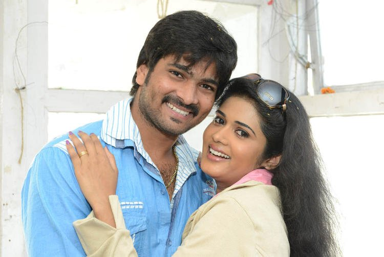 Venu Gopal And Sunitha Nice Look With Cute Smiling Still At LGN Entertainments Prod No 1 Movie Opening