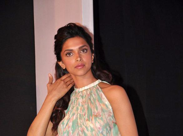 Deepika Padukone Snapped At Garnier Cream Launch Event