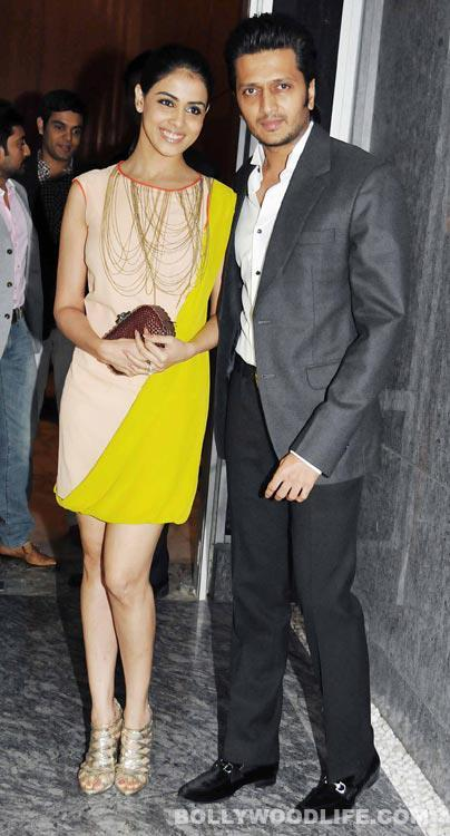 Riteish With Wife Genelia At Dinner Party In Honour Of Andre Agassi