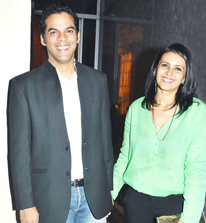 Vikramaditya With Wife Smiling Pose At Dinner Party In Honour Of Andre Agassi