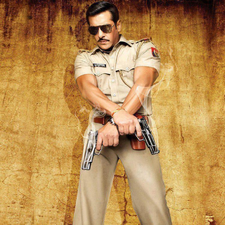 Salman Khan With Guns Photo From Dabbang 2