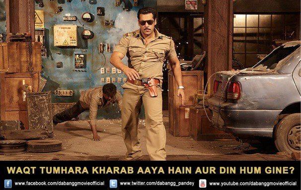 Salman Khan Stylish Look Walking Still From Movie Dabangg 2