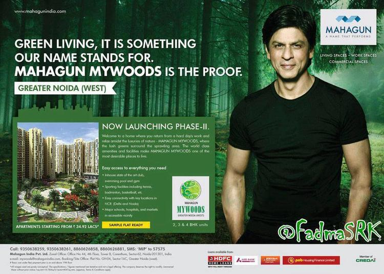 Shahrukh Cute Smiling Pose Ad For Mahagun