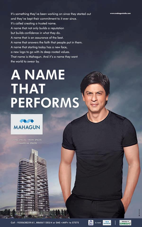 Shahrukh Khan On Ad For Real Estate Company Mahagun