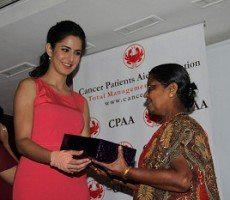 Katrina Kaif With A Cancer Patient At CPAA Event