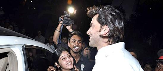 Hrithik Roshan With Fans At Whistling Woods