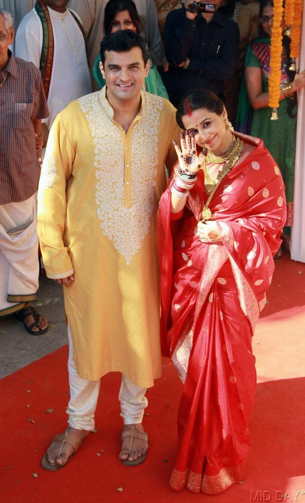 Vidya And Siddharth Photo Clicked At Their Wedding Ceremony