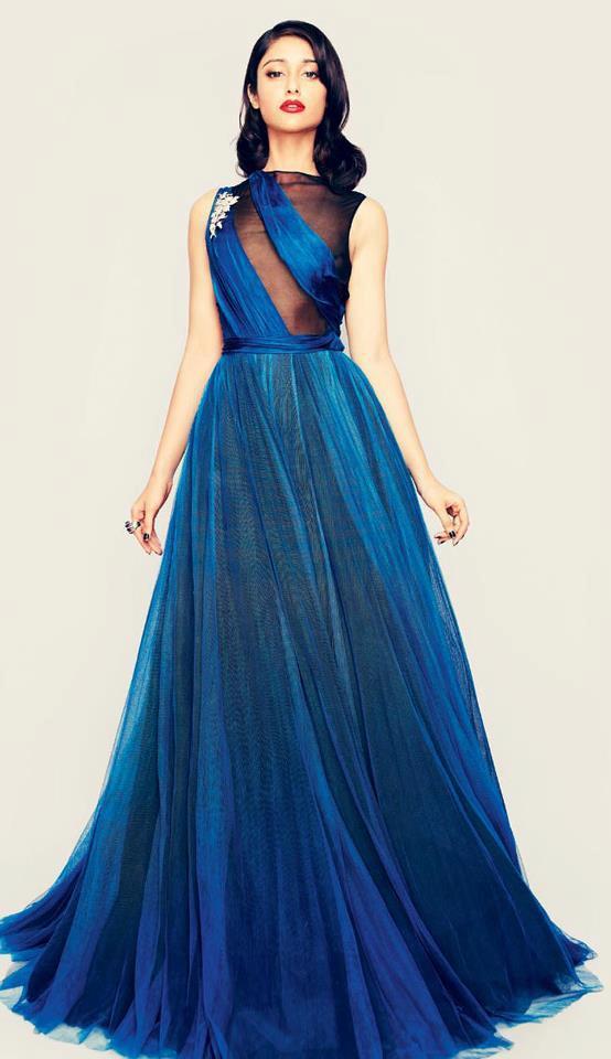 Ileana D'cruz Gorgeous Photo Shoot In A Blue Long Gown