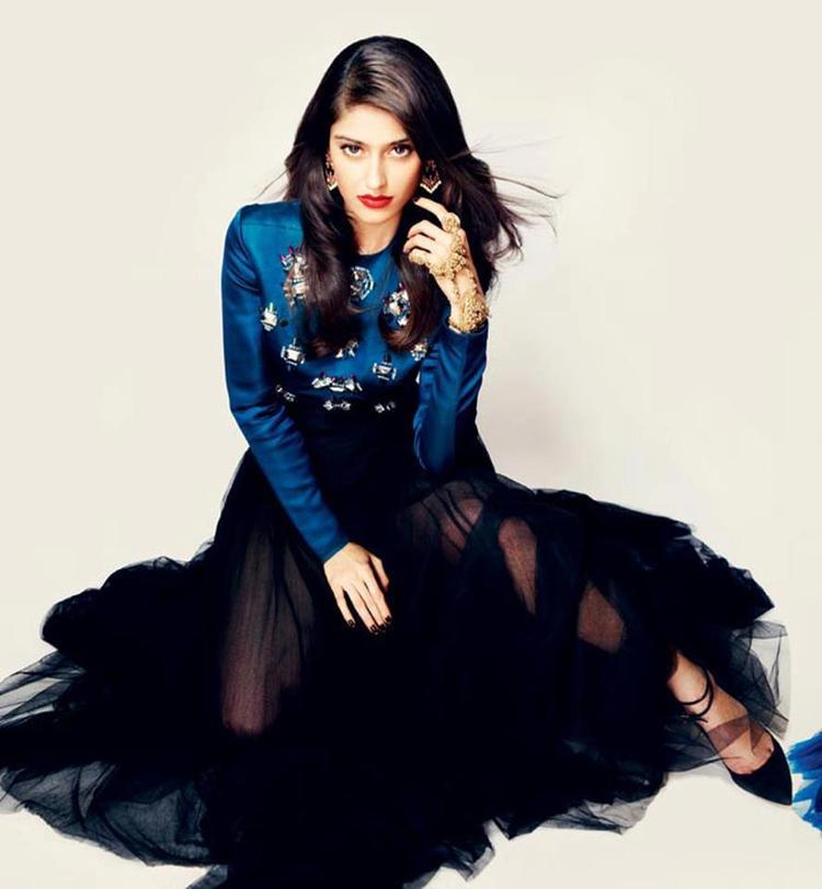 Ileana D'Cruz Sizzling And Dashing Photo Shoot In A Blue Black Combination Dress